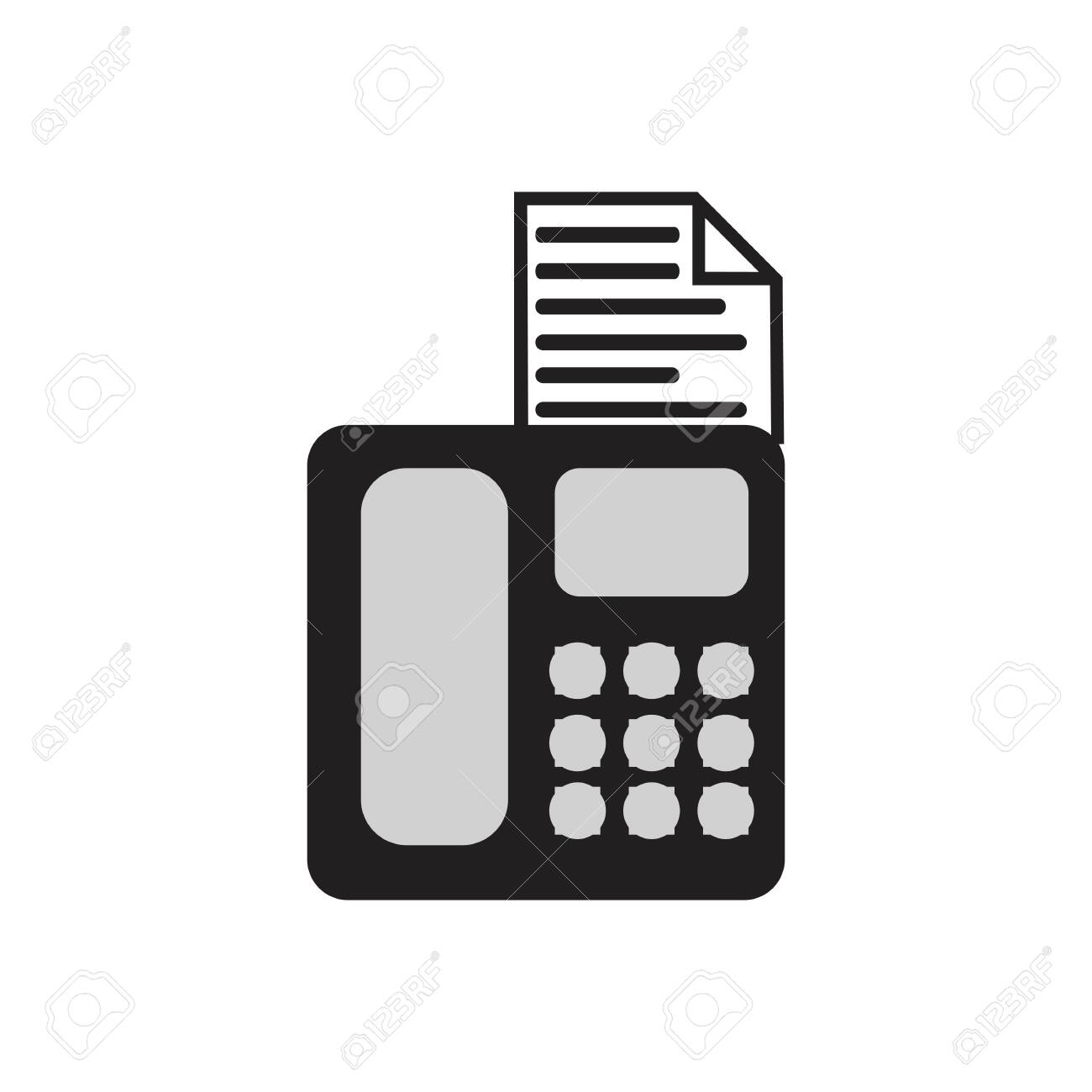 fax machine logo template vector icon design royalty free cliparts vectors and stock illustration image 134130504 123rf com