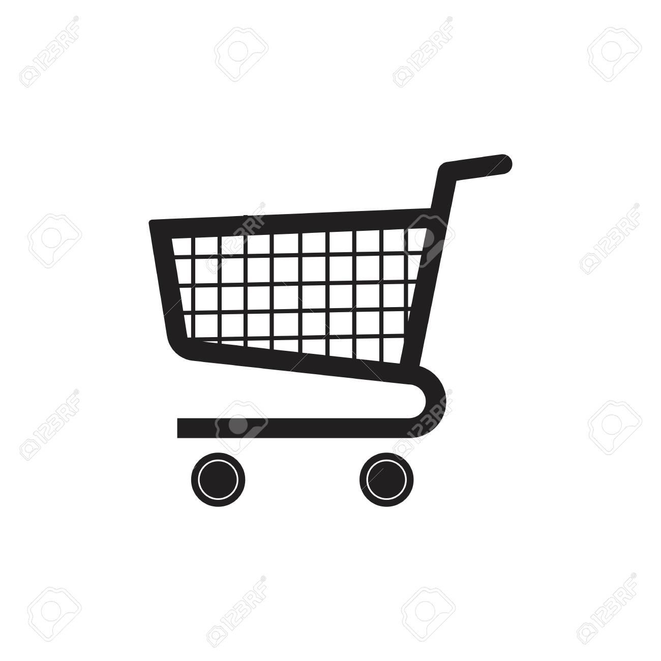 Shopping cart vector icon illustration design templateShopping cart sign icon, vector illustration. Flat design style - Vector - 135760756