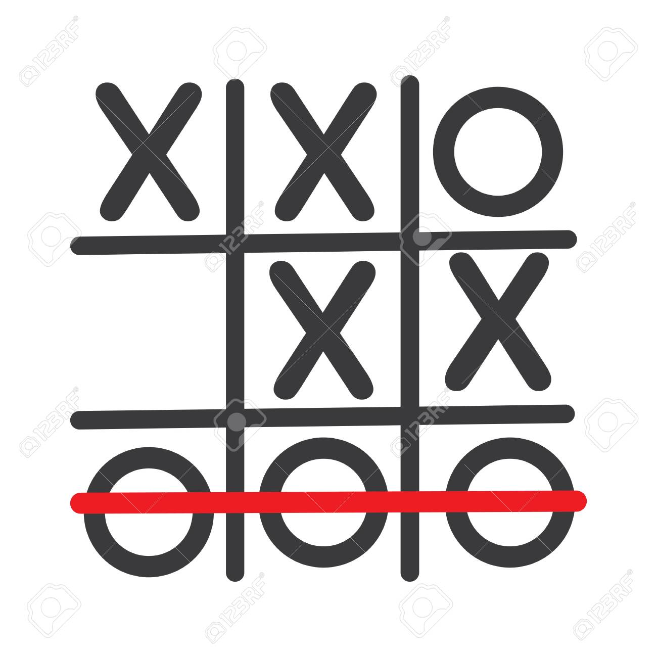 Tic Tac Toe Game Vector Illustration Icon Template Design Royalty Within Tic Tac Toe Template Word
