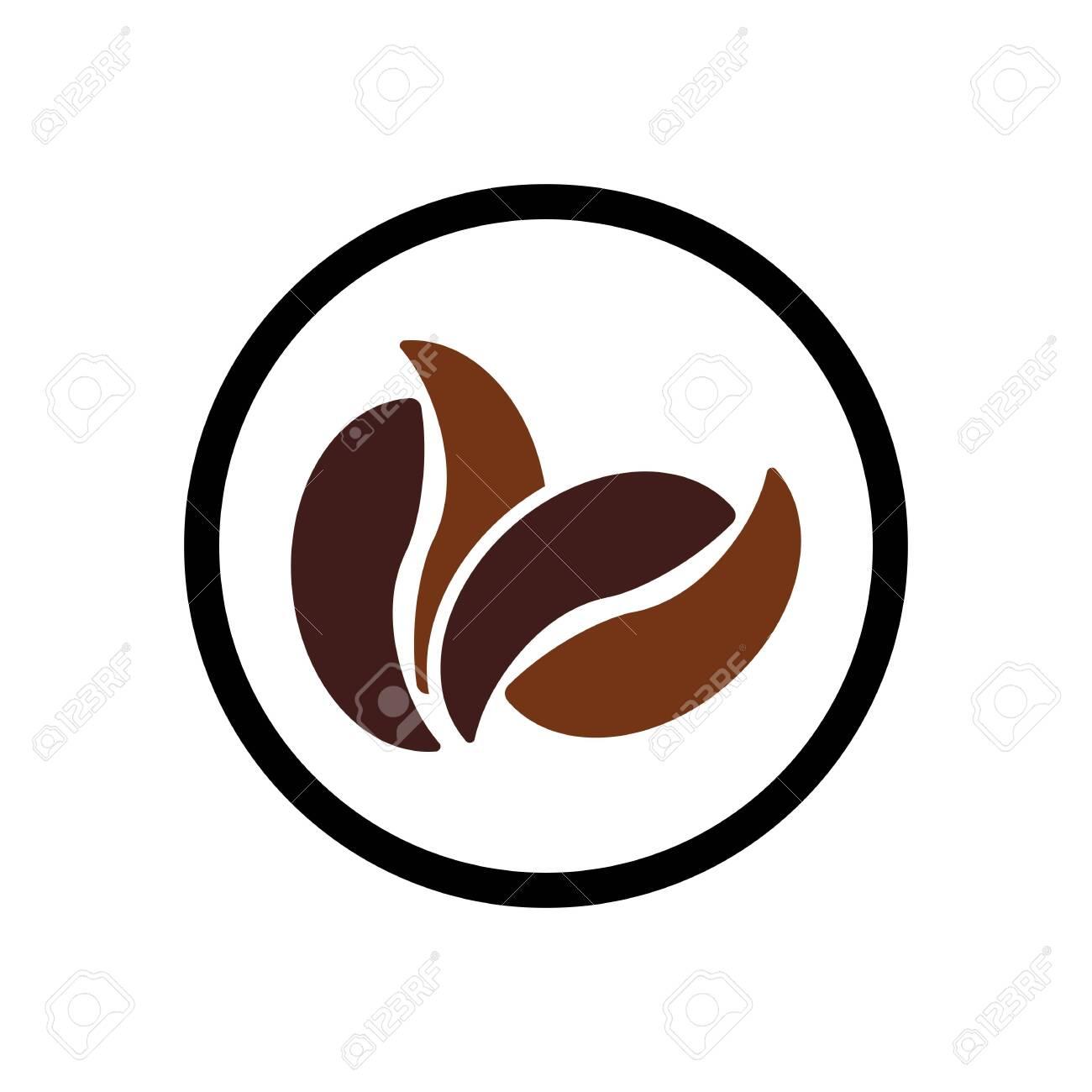 coffee bean icon vector illustration template - 141876493