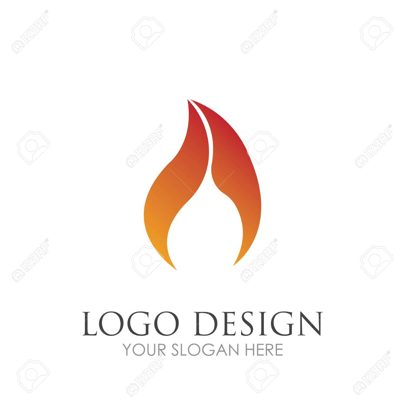 Fire with flame and feuer mit flamme Logo - Vector - 145117959