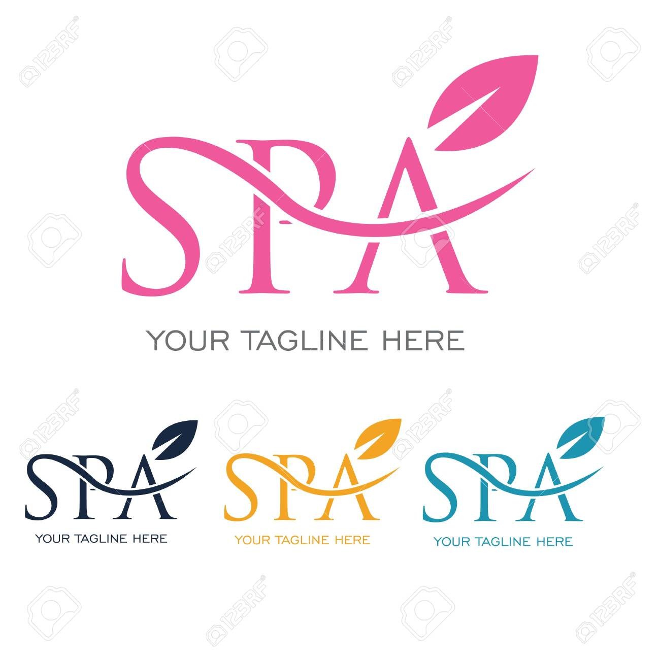 spa logo vector illustration design template - 146030519