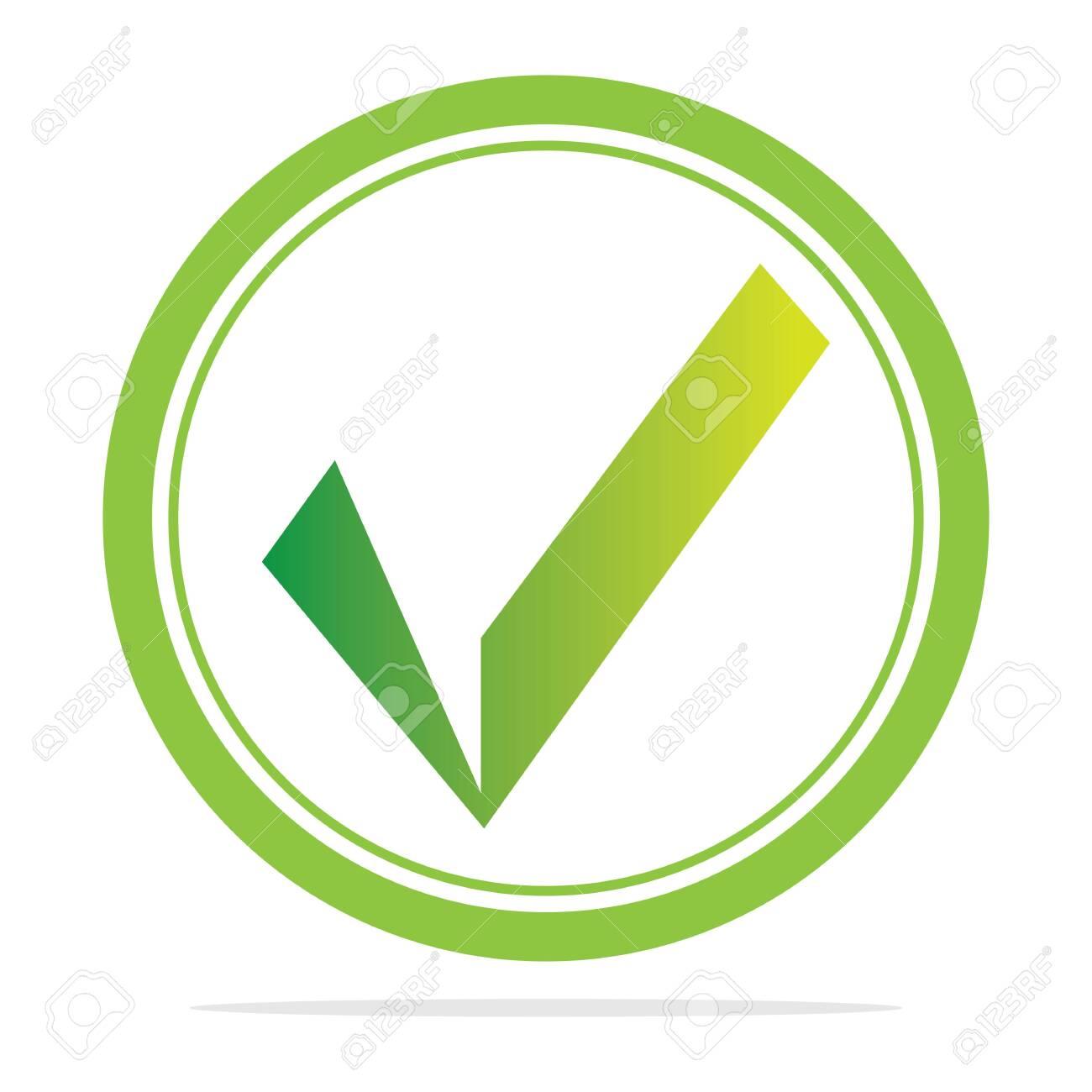 check mark icon vector illustration design template - 153835947