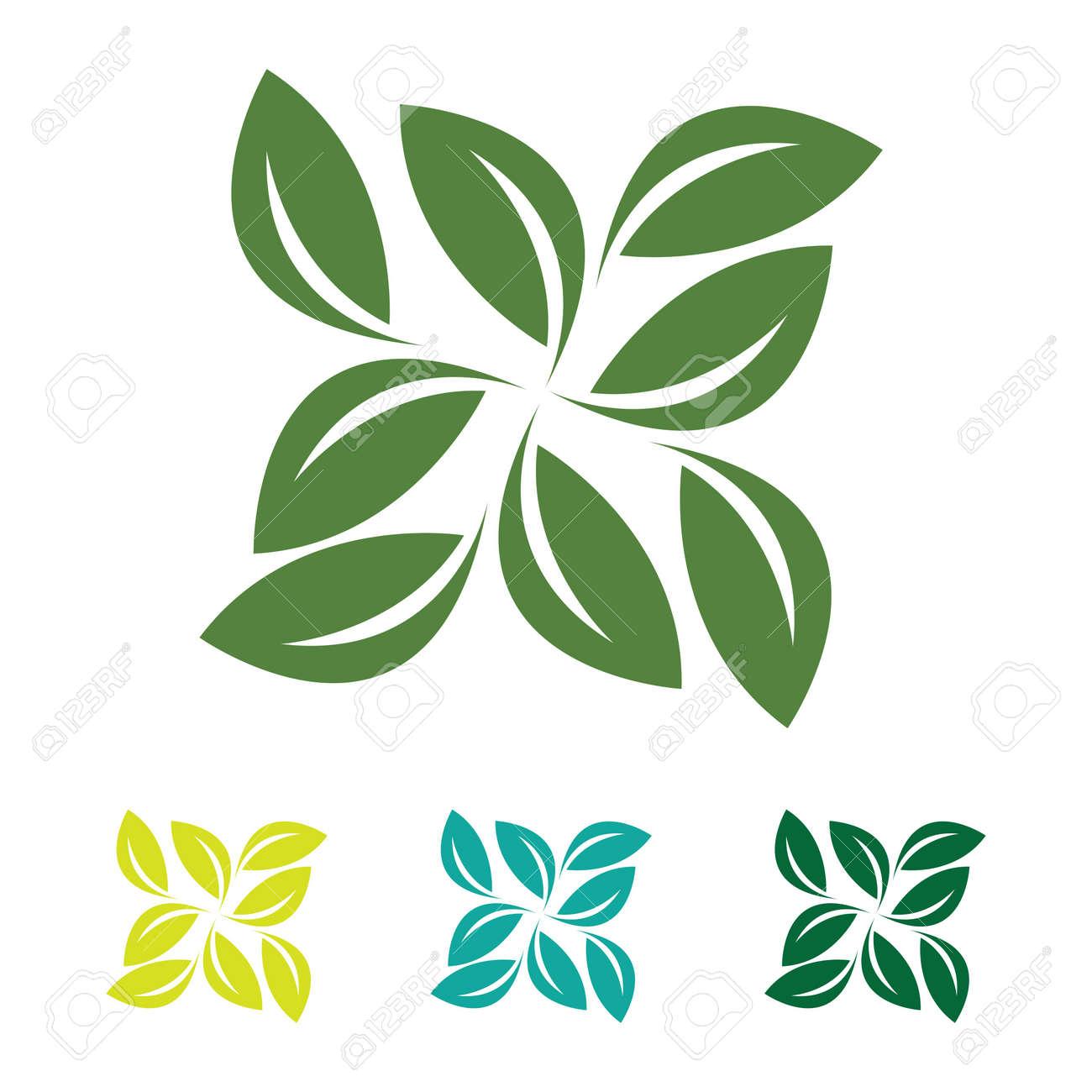eco green leaf logo vector - 154366536