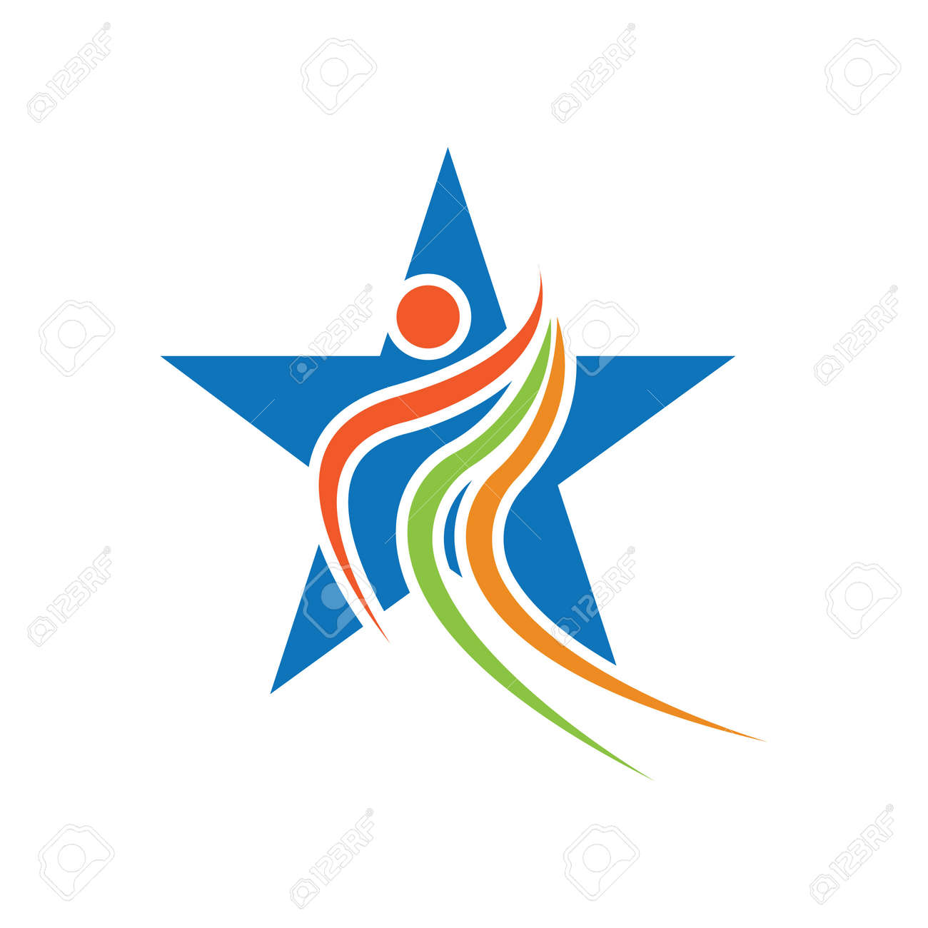Star success people care logo and symbols template - 155592504