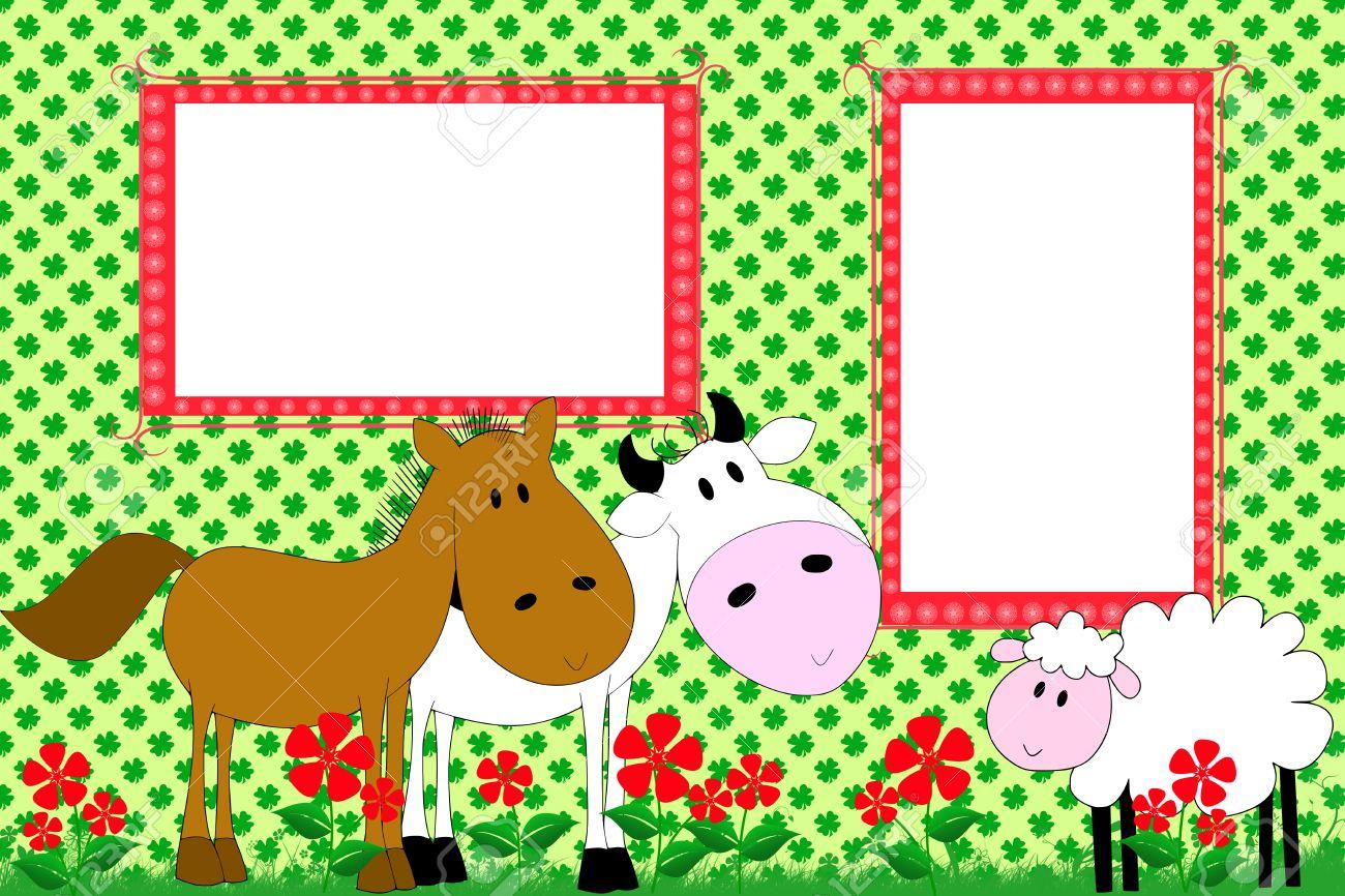 Libro De Recuerdos Del Cabrito Con El Caballo, Vaca Y Oveja - Marcos ...