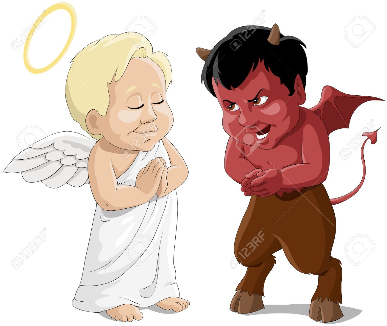 Babies an angel and a devil Stock Vector - 7804929