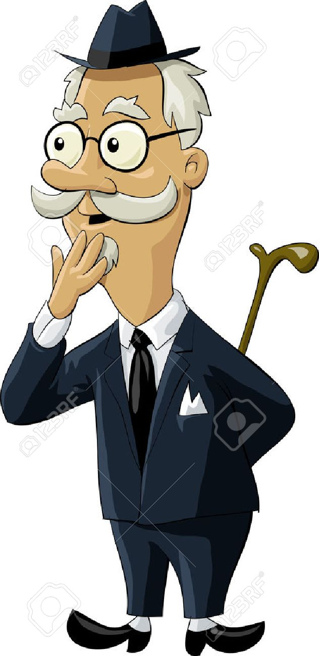 The old man in an old suit Stock Vector - 7804911