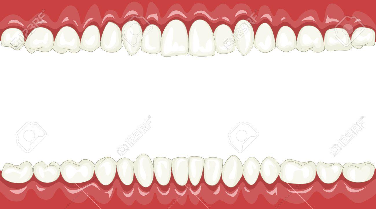 Funny background with cartoon teeth Stock Vector - 7805012