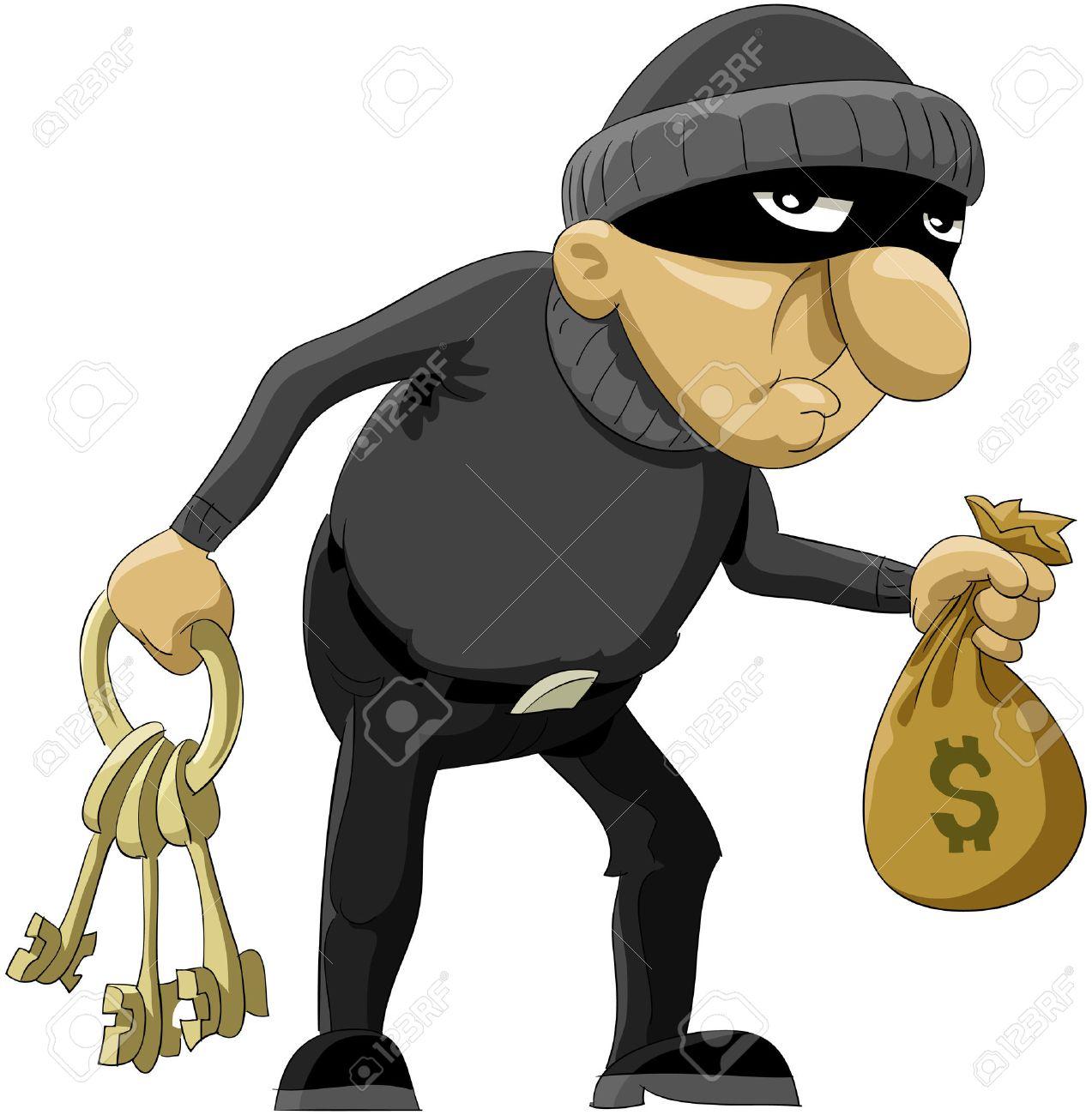 Cartoon Thief Running Thief Cartoon The Robber in