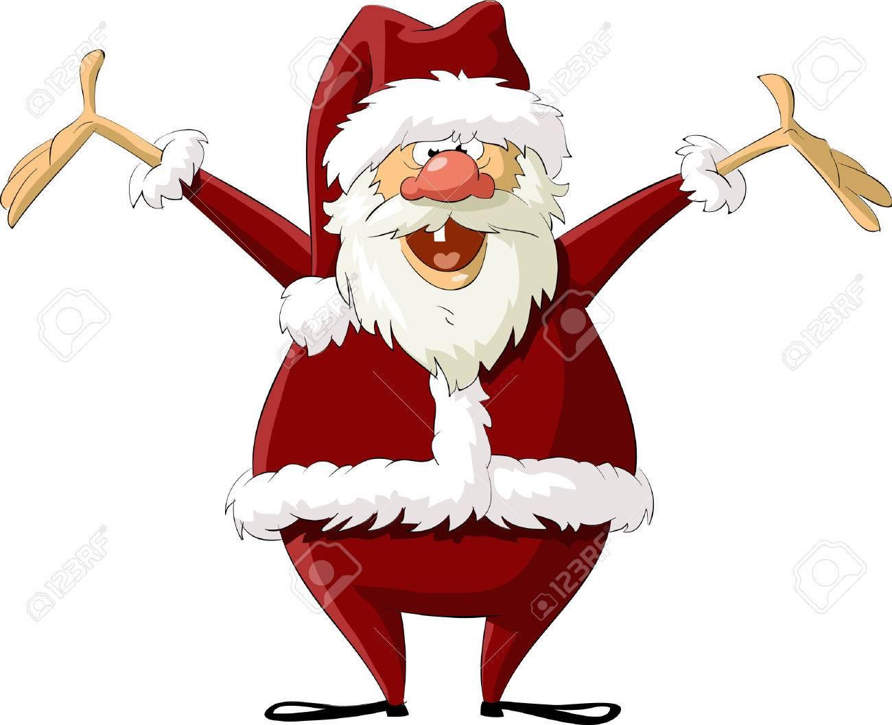 Santa on a white background, vector illustration Stock Vector - 7930642