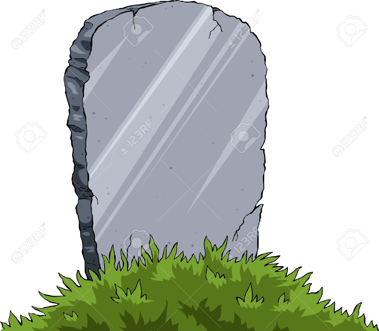 Grave of a white background, vector illustration Stock Vector - 9483289