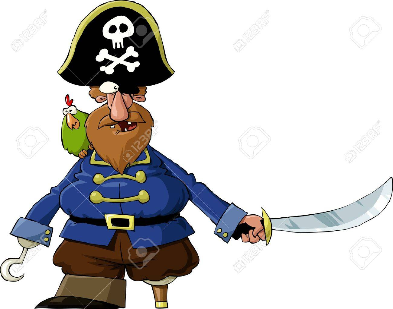 Pirate on a white background, vector illustration Stock Vector - 9931706