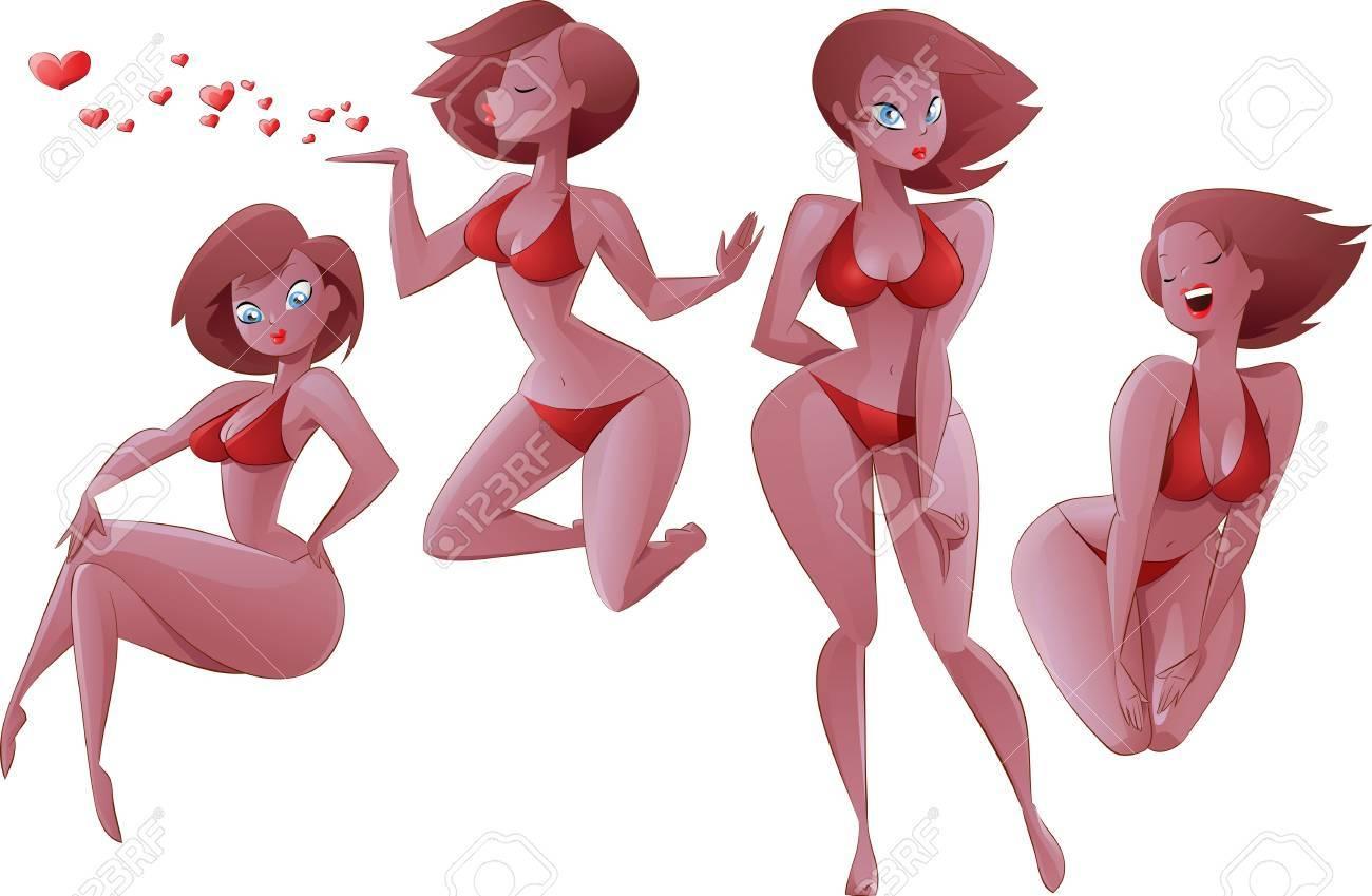 Girls on a white background, illustration Stock Vector - 10106689