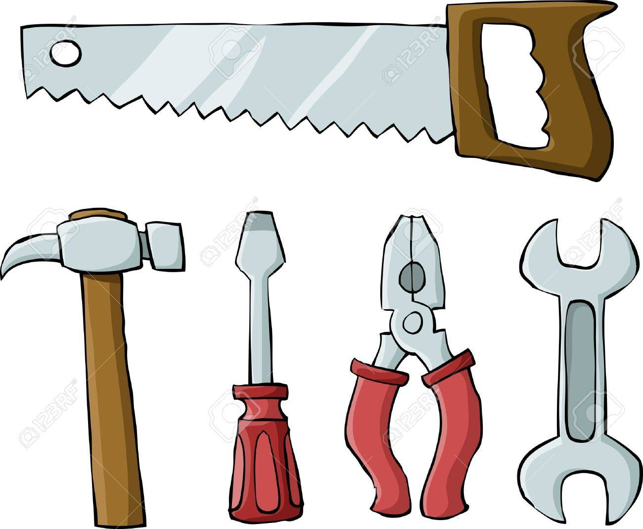 Tools on a white background, vector illustration Stock Vector - 10525944