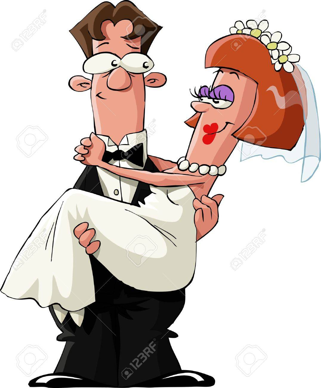 Married to a white background, illustration - 10686314