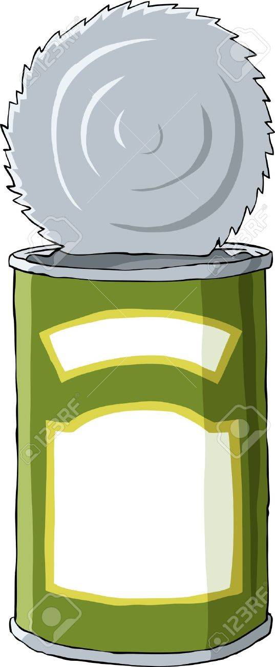 Tin on a white background, vector illustration Stock Vector - 10713880