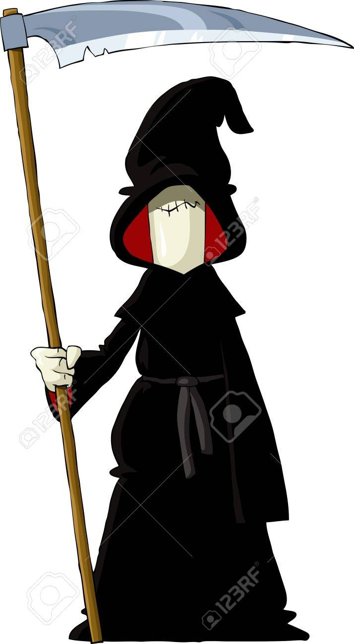 Reaper on a white background, vector illustration Stock Vector - 10825961