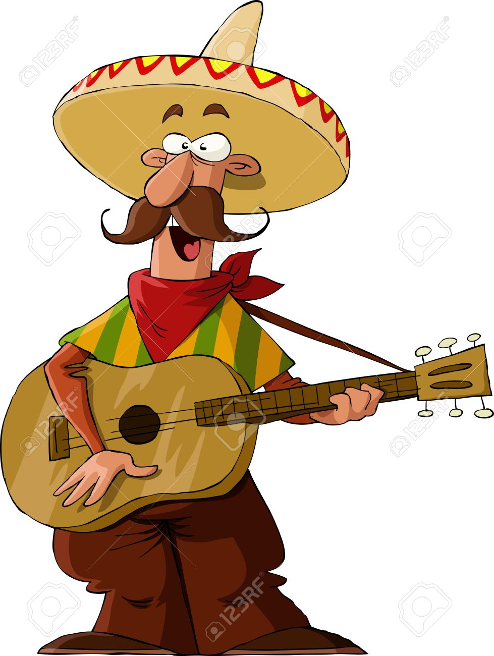 Mexican on a white background, vector illustration - 11004637