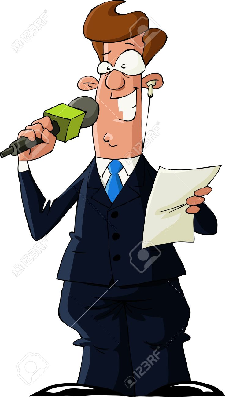 A reporter on a white background, vector illustration Stock Vector - 11004648