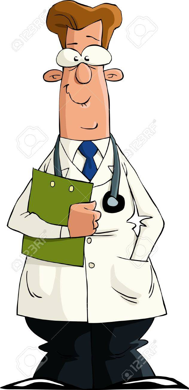 A doctor on a white background, vector illustration Stock Vector - 11104849