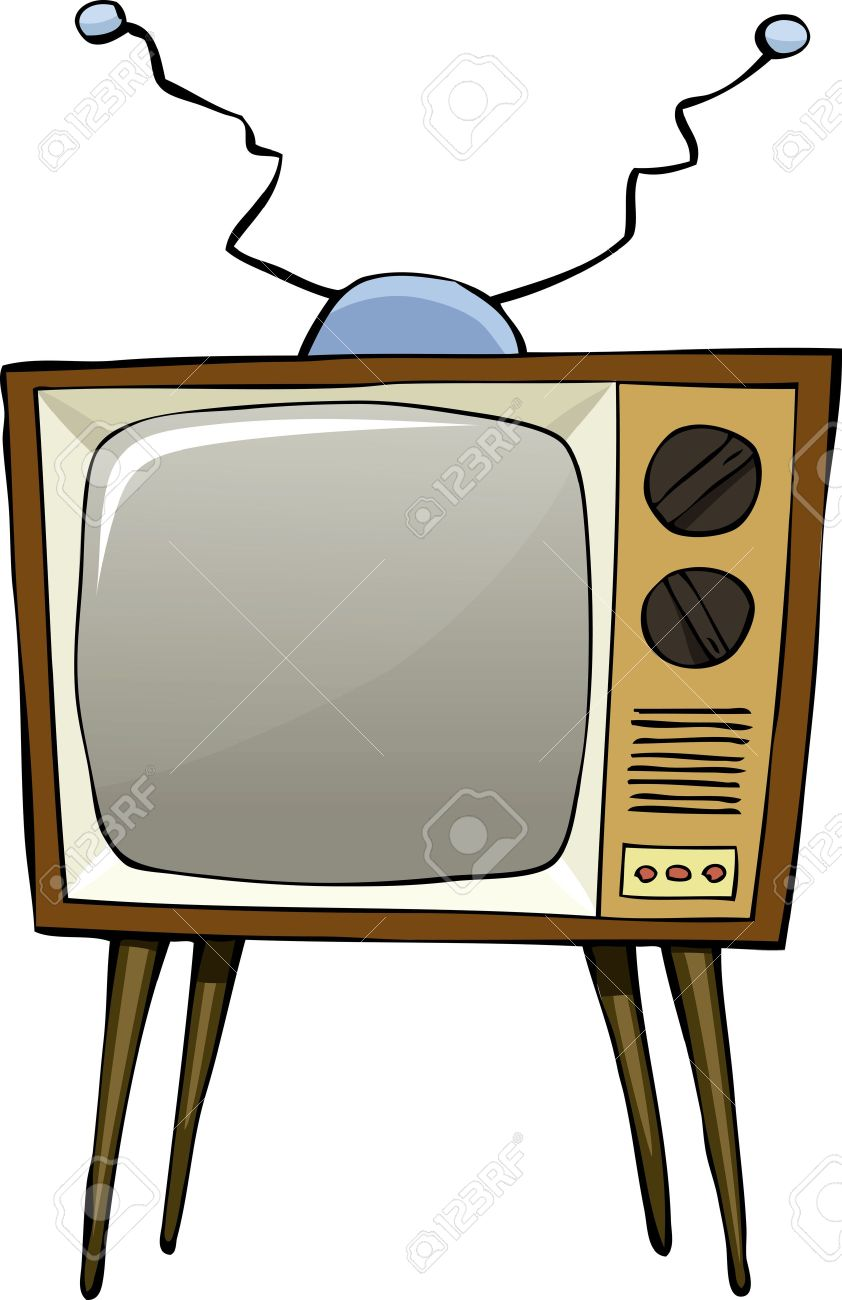 tv drawing. tv on a white background vector illustration stock 11928844 tv drawing