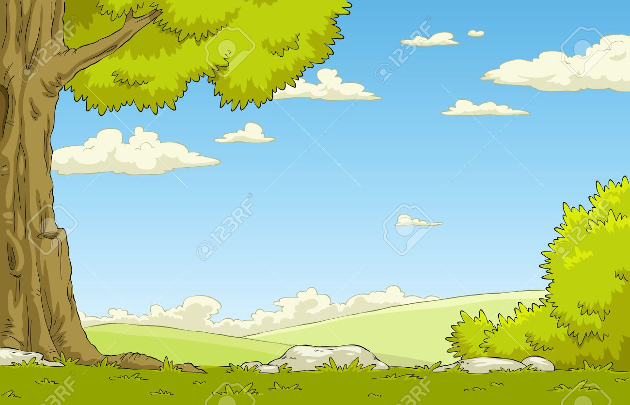 Landscape With Tree And Shrub Vector Illustration Royalty Free Cliparts Vectors And Stock Illustration Image 12356605 Easy drawing guides > cartoon , easy , landscape , plant , tree > how to draw a cartoon tree. landscape with tree and shrub vector illustration