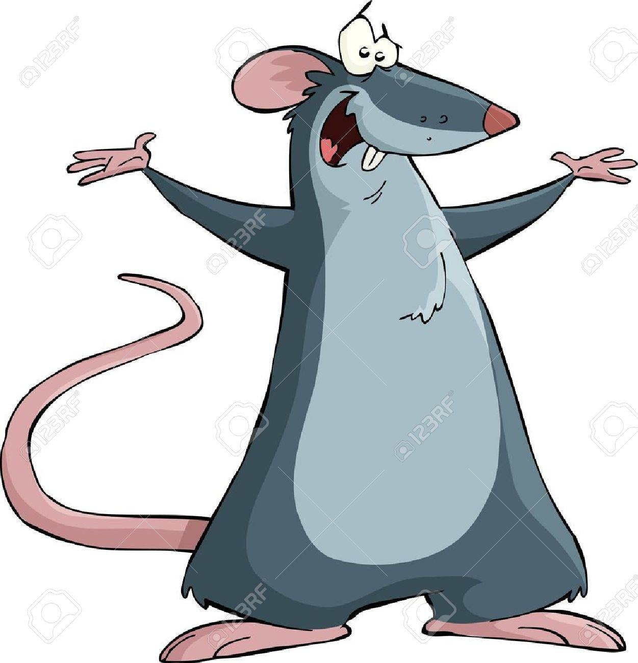 Mouse on a white background, vector illustration Stock Vector - 12490692