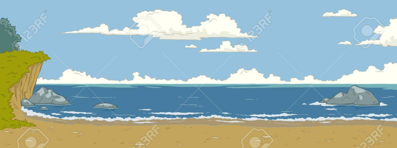 The natural landscape cartoon background Stock Vector - 15197224