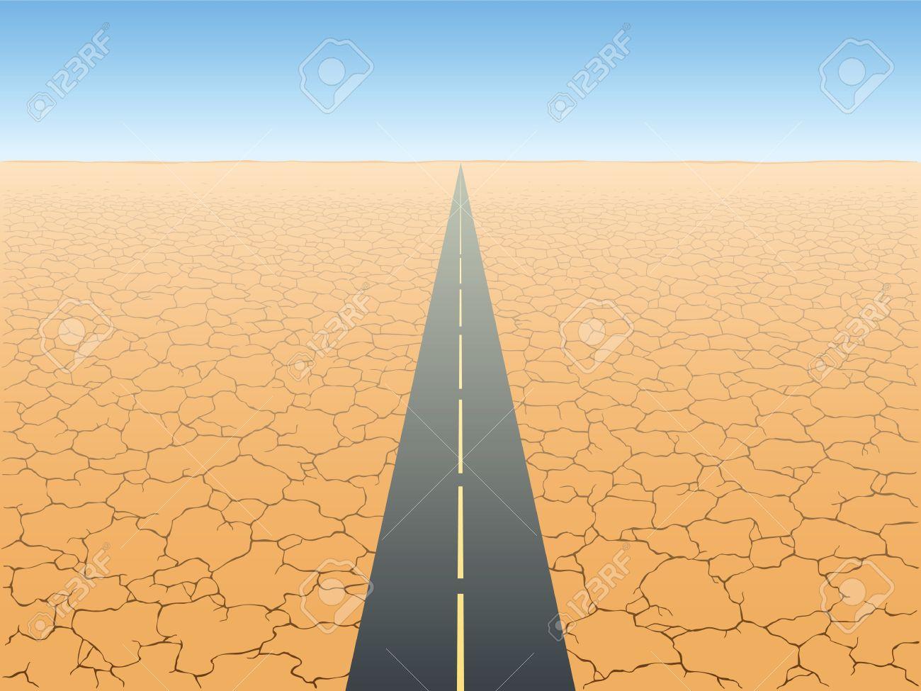 The road in the desert Stock Vector - 15597449
