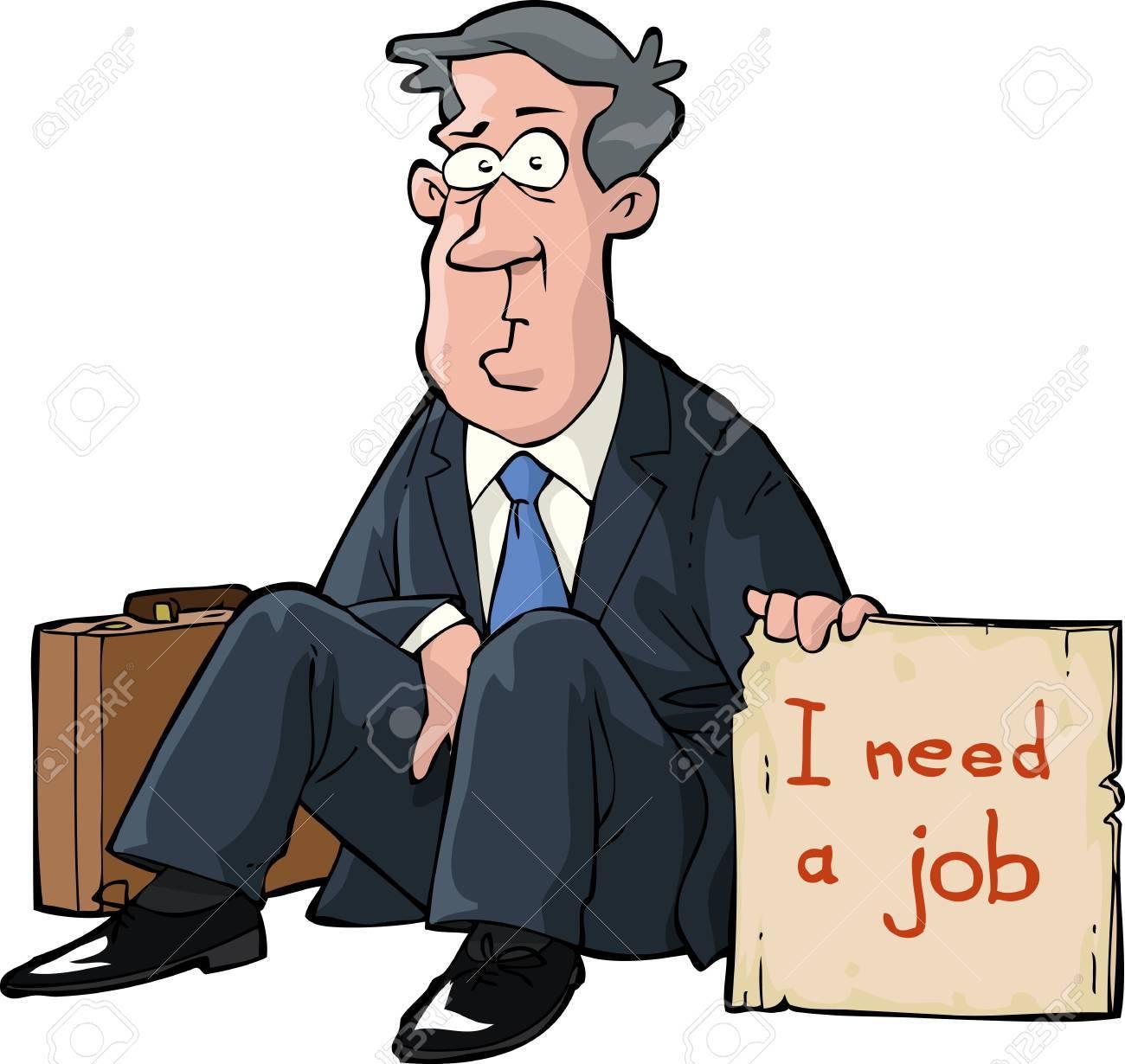 A man needs a job Stock Vector - 20679327