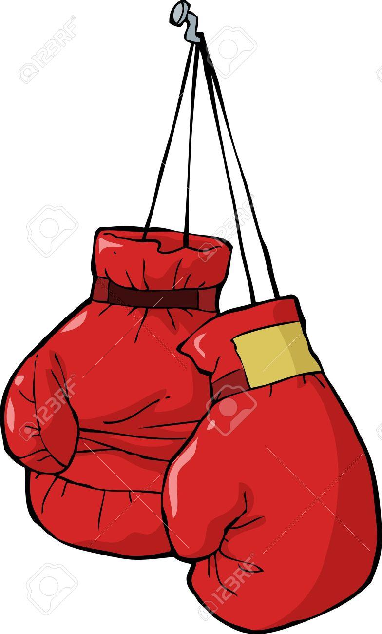guantes de boxeo en una ilustración vectorial de uñas ilustraciones