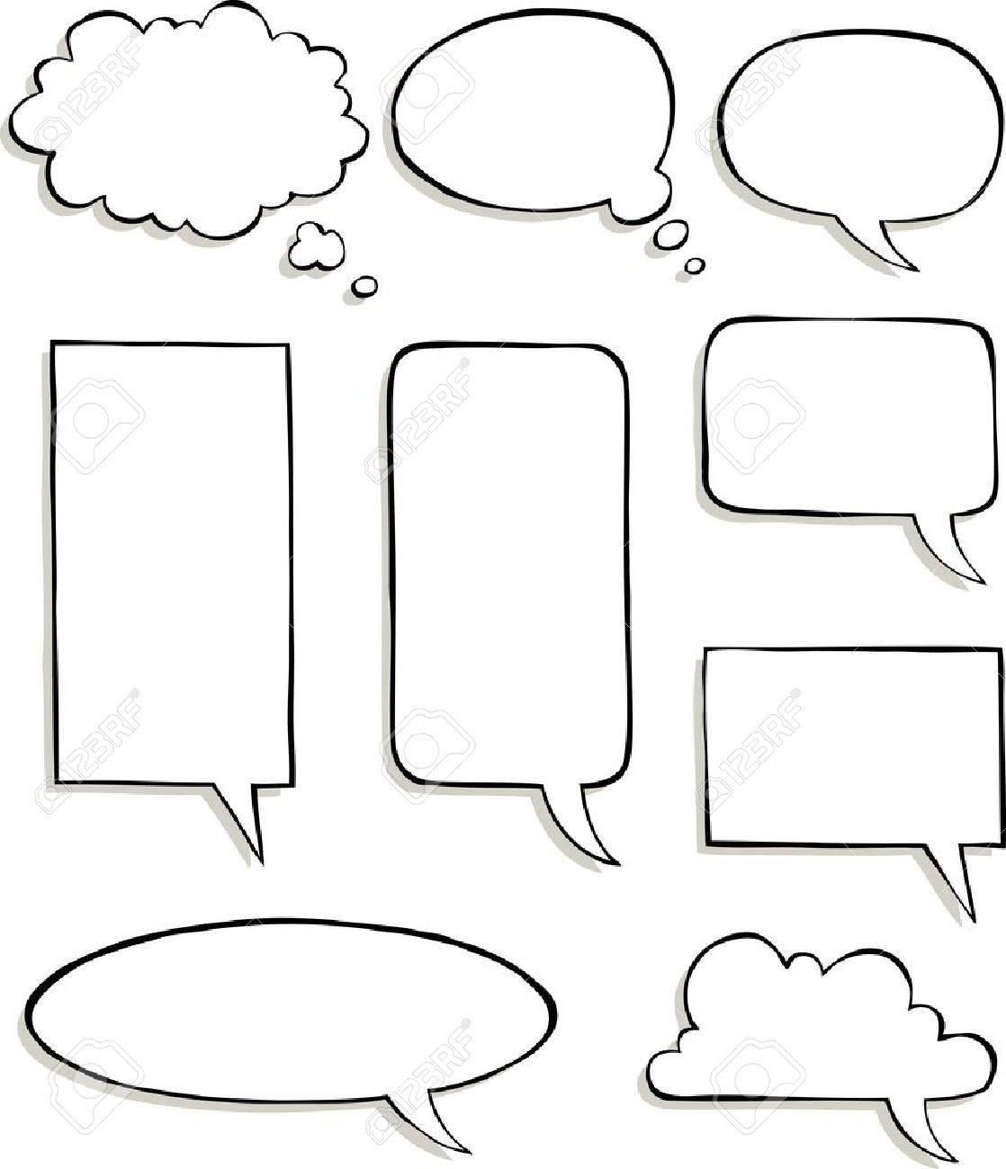 Set of comic speech bubbles vector illustration Stock Vector - 20907010