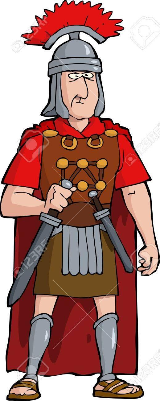 Roman officer on a white background vector illustration Stock Vector - 21138272