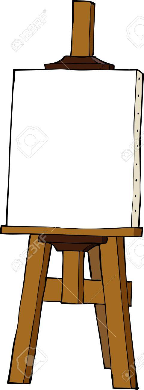 Easel on a white background vector illustration Stock Vector - 21531710