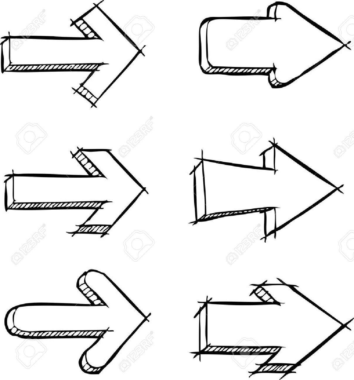 A set of arrows drawn vector illustration - 21531711