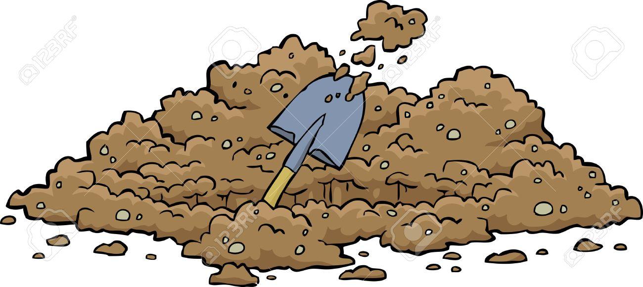 Digging hole on a white background illustration - 30146679