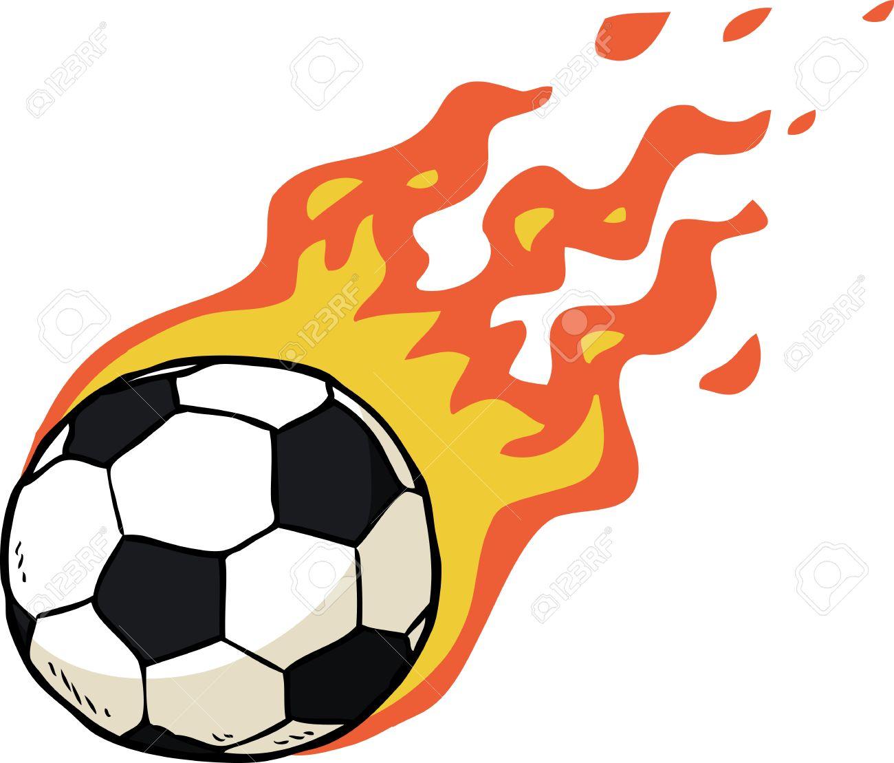 Foto de archivo - Ilustración vectorial dibujo pelota de fútbol fuego de  dibujos animados acd577c4b7960