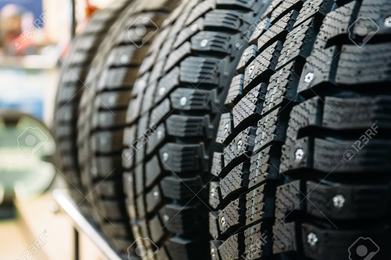 Winter Tires For Sale >> New Winter Tires For Sale In Store Selective Focus Stock Photo