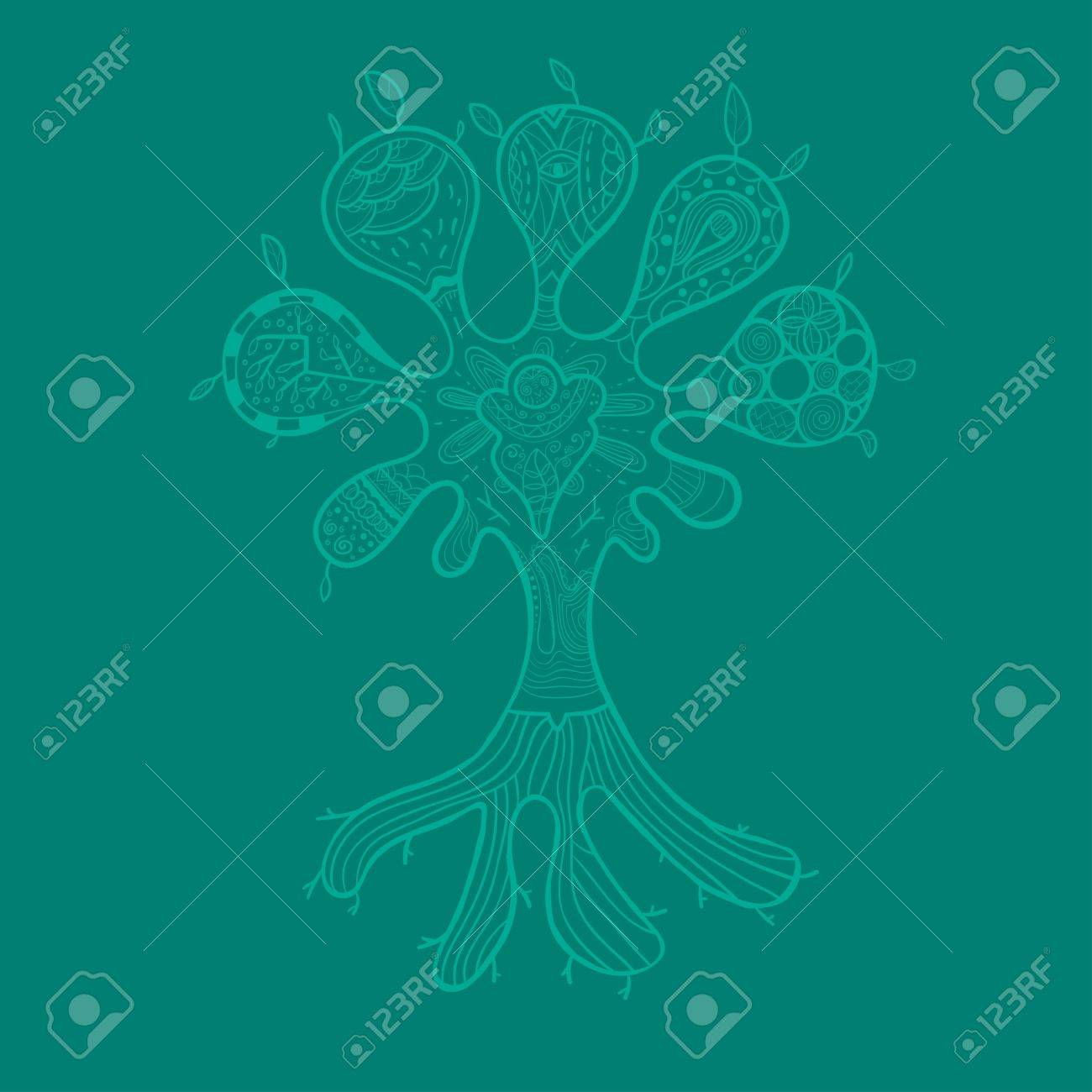 Abstract Tree Illustration Can Be Used As Wallpaper Or Greeting