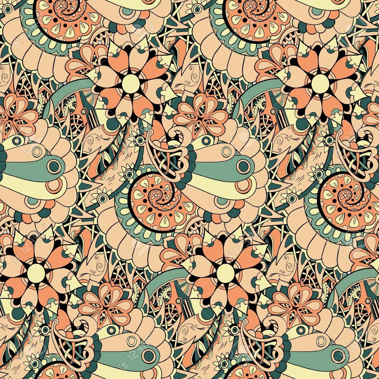 花機構スチーム パンクなシームレスなベクター パターンに壁紙 パターンの塗りつぶし Web ページの背景 表面のテクスチャを使用できます のイラスト素材 ベクタ Image