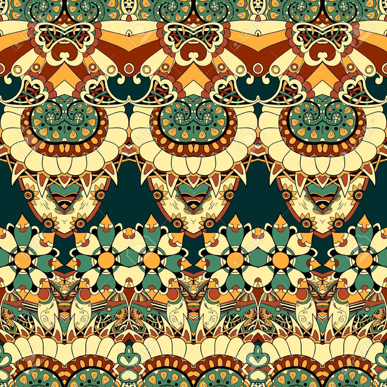 Floral mechanism steampunk seamless vector pattern can be used for wallpaper, pattern fills, web page background, surface textures Stock Vector - 21537085