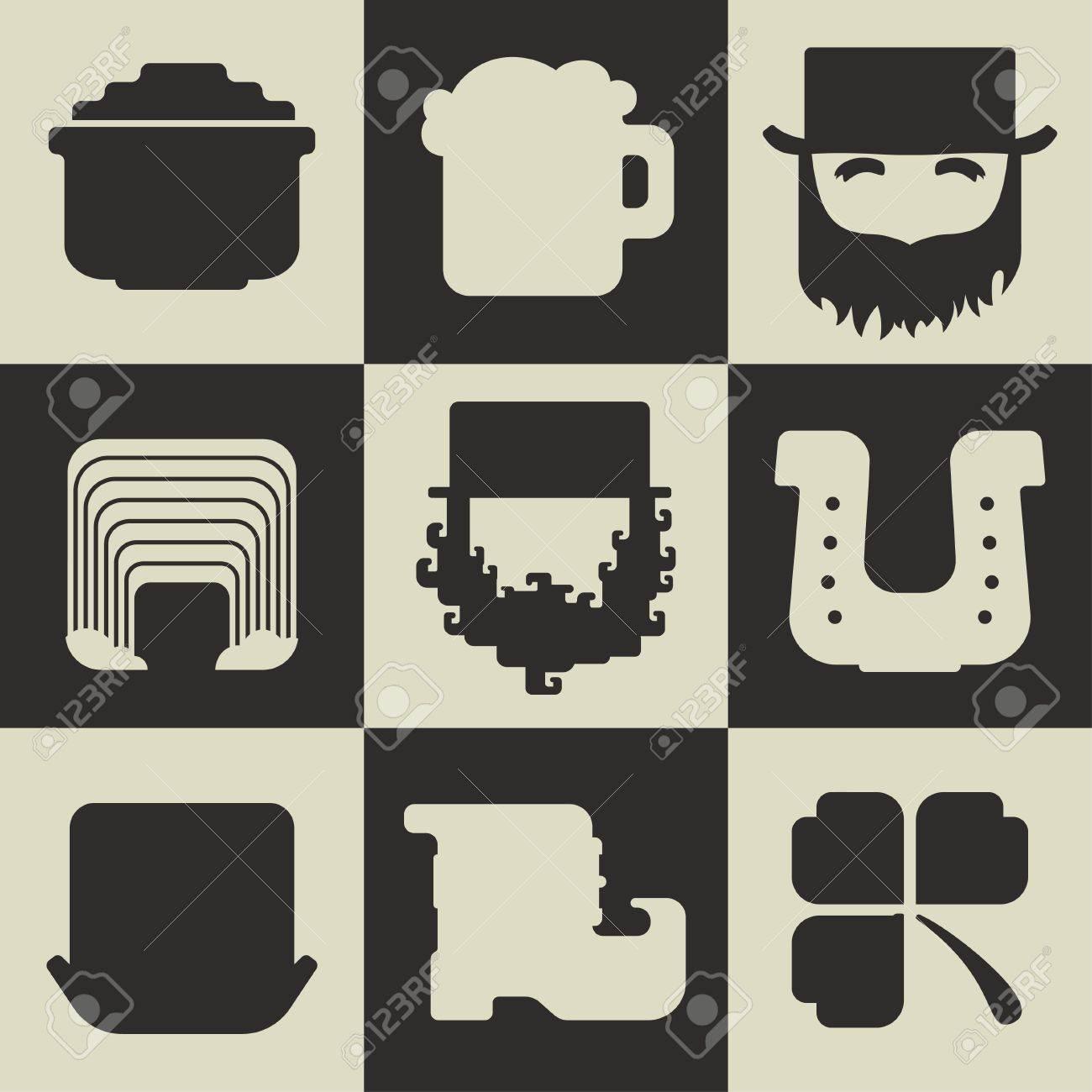 Set of black and white flat icons on a plain background a symbol set of black and white flat icons on a plain background a symbol of good biocorpaavc Choice Image