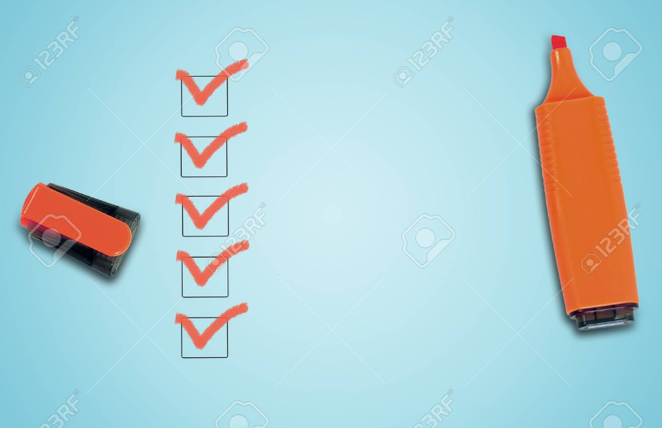 Empty checklist with copy space Stock Photo - 24080548
