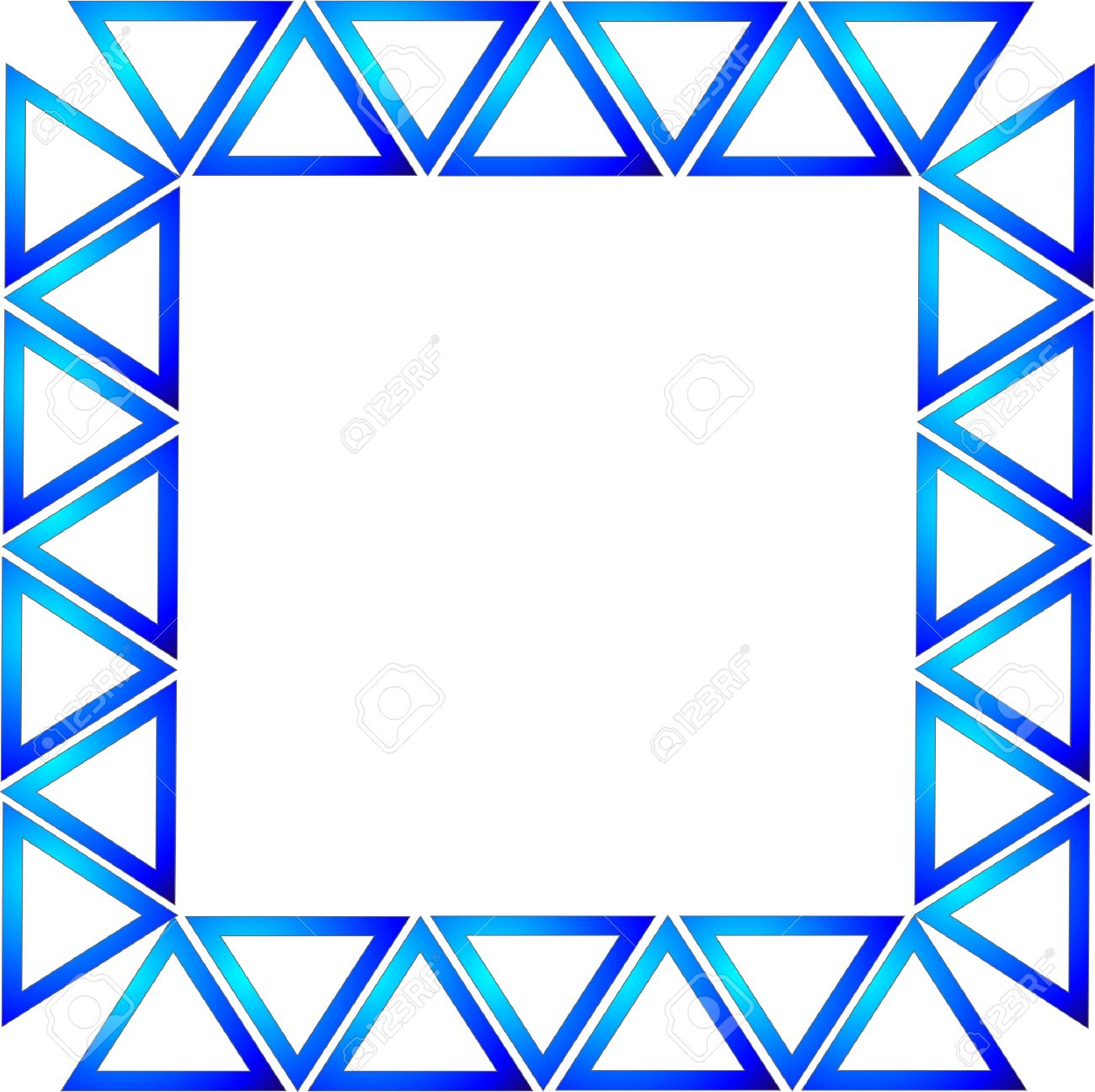 blue gradient triangles formed into a rectangle to make a frame or border background over