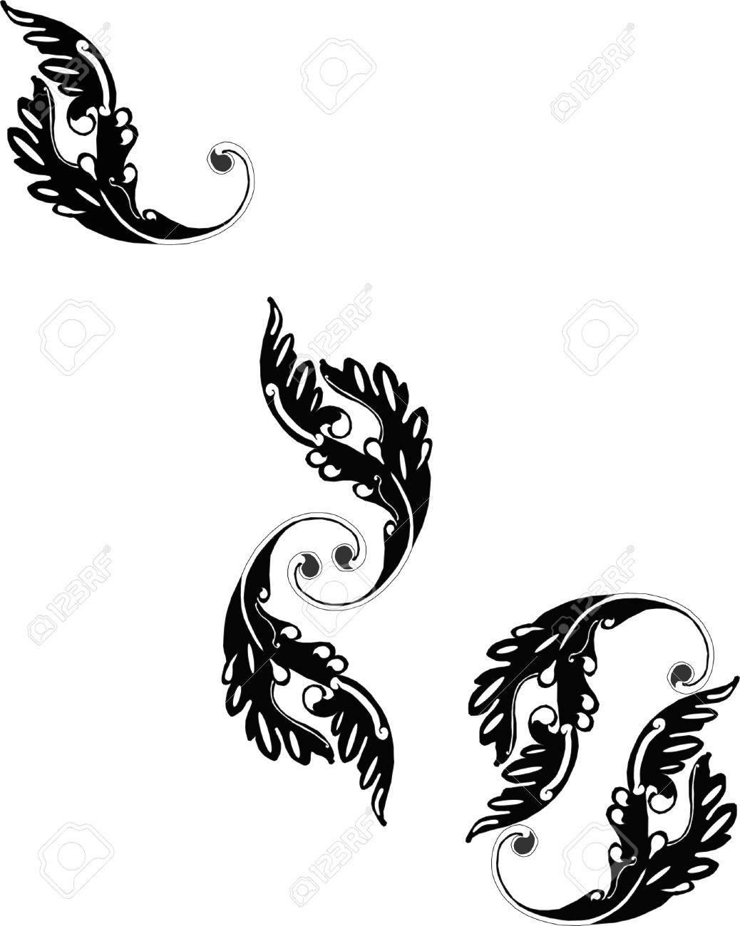 Ornate grouping of Victorian scroll like designs..... Stock Vector - 4449868