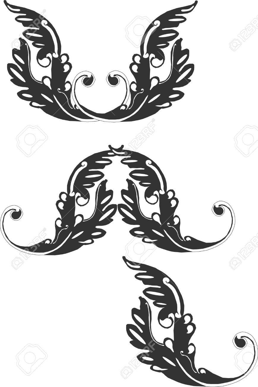 Ornate grouping of Victorian scroll like designs..... Stock Vector - 4449867