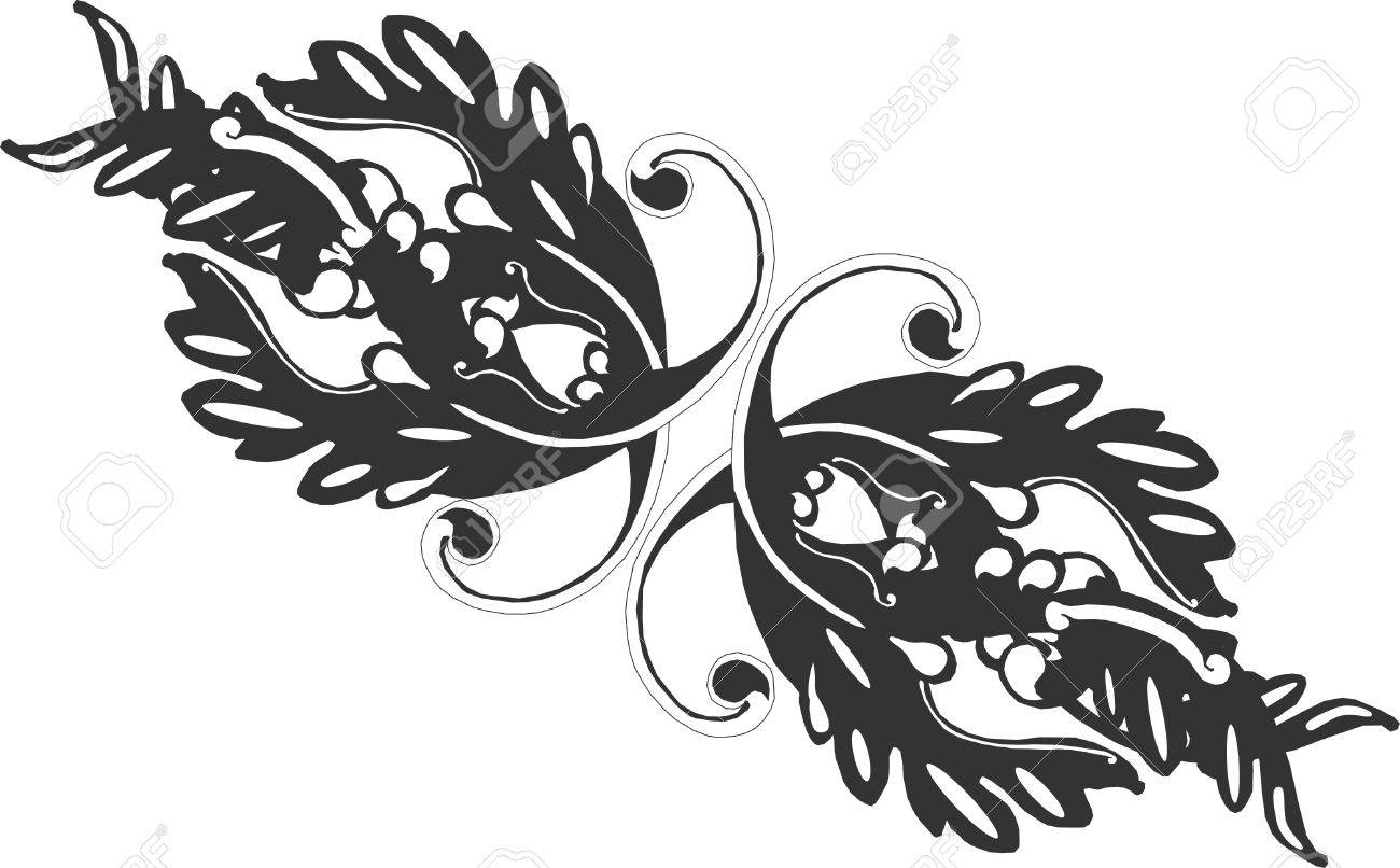 Ornate grouping of Victorian scrolls tp create a line like designs..... Stock Vector - 4449866