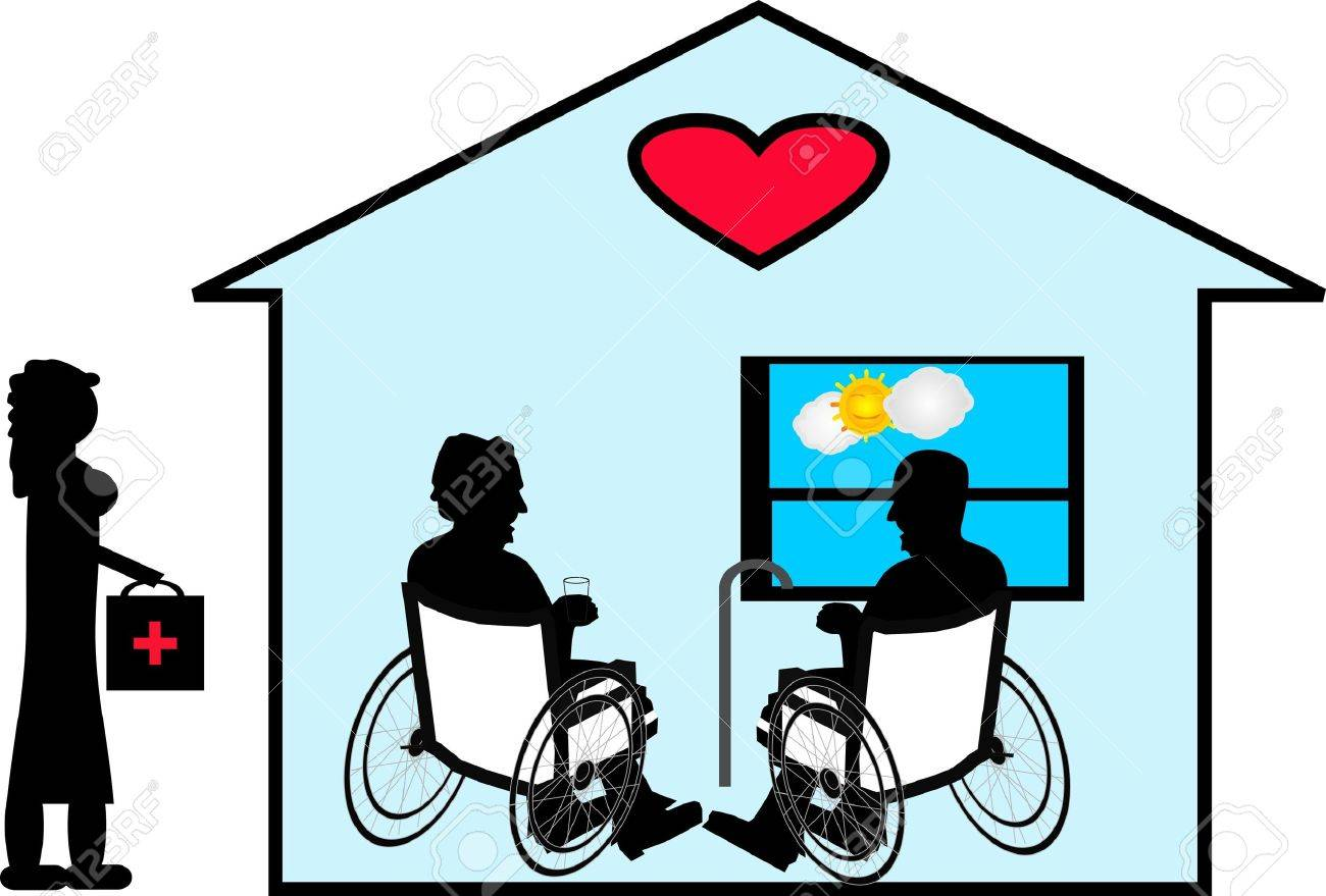 Sharing their love of many years with Home Care in their home... Stock Vector - 4650457