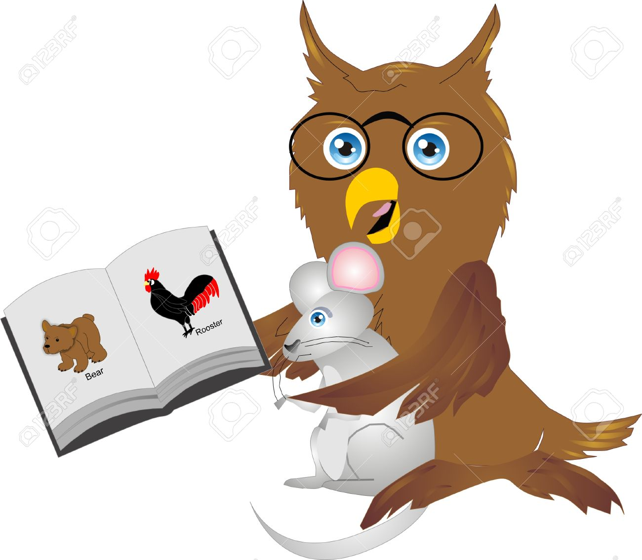 owl, bird, predator, carnivore, feathers, night, horned, glasses, reading,  mouse, mole, food, rooster, cock, farm, animal, mammals, bear, cub, brown,  book, ...